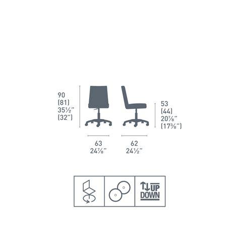 sedie ufficio calligaris connubia calligaris jam sedia girevole da ufficio moderna