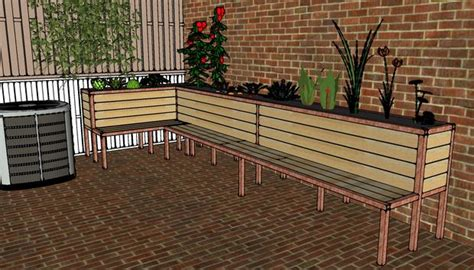planter seat bench pdf diy planter box bench seat plans download plans simple gun cabinet furnitureplans