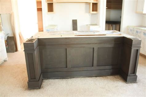 how to support kitchen island overhang search