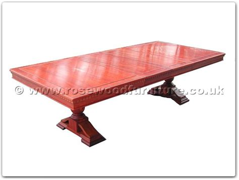 Black Wood Rectangular Dining Table Rosewood Black Wood Rectangular Dining Table With 2 Pedestal Legs Ff23994table