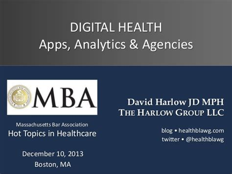 Digital Health Mba digital health apps analytics agencies