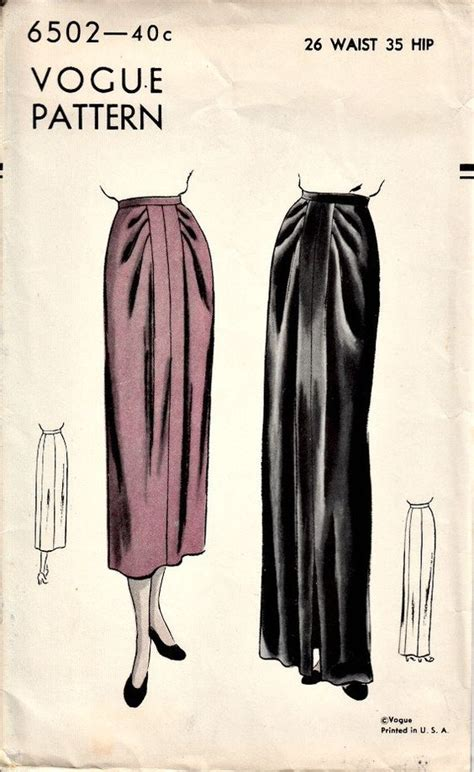 draped skirt pattern 1940s draped skirt pattern vogue 6502 vintage sewing