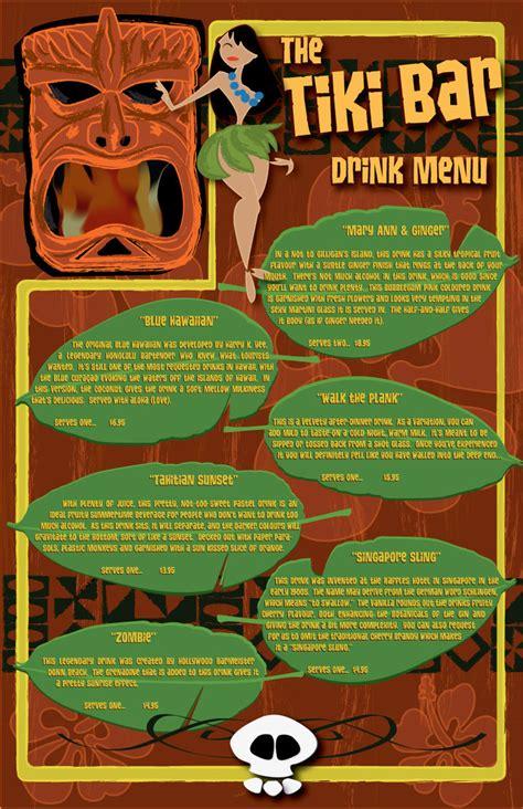 Tiki Bar Menu Tiki Bar Drink Menu By Shaneosan On Deviantart