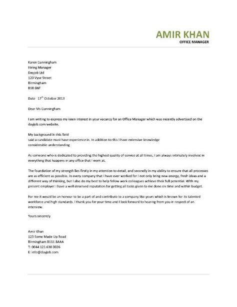cover letter for content manager office manager cover letter sle sle cover letters
