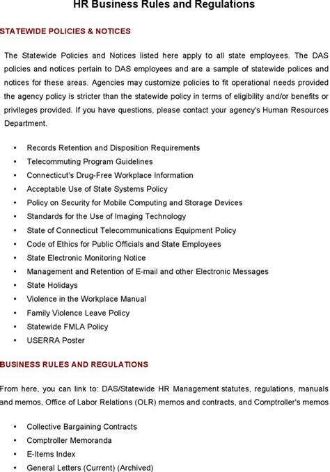 hr business template hr regulations free premium templates