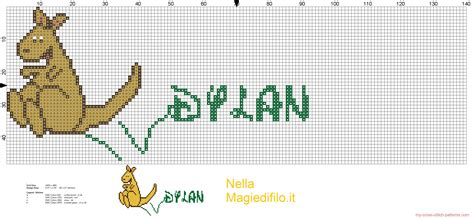 name pattern for cross stitch name dylan with kangaroo 3032x1404 1305848
