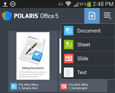 Polaris Office 5 App by Samsung Galaxy S4 Review Features Part 2