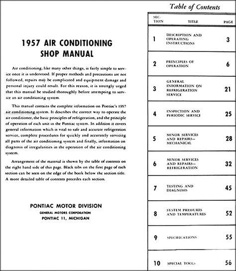 service manual auto air conditioning service 2000 pontiac sunfire regenerative braking 2000 1957 pontiac air conditioning repair shop manual original