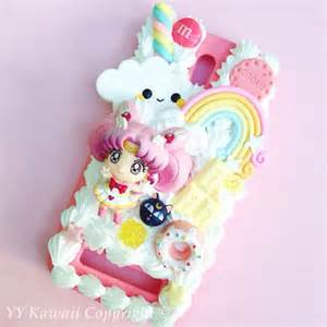 Custom sailor moon chibi moon kawaii decoden phone case for iphone 4
