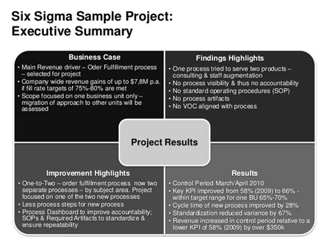 Scope Of Executive Mba by Six Sigma Sle Project