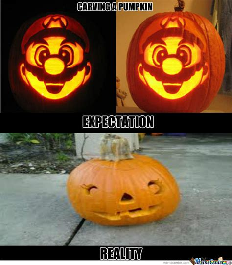 Meme Pumpkin - pumpkin carving fail by surrenderdorothy meme center