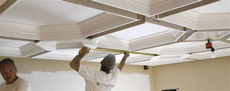 Coffered Drop Ceiling by Coffered Ceiling Diy How To Easily Install A Coffered