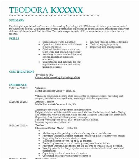 Volunteer Experience For Resume