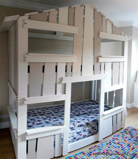 house bunk bed custom made children s house bunk bed by d s artistic woodworking llc custommade com