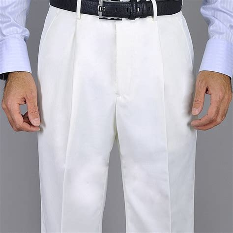 dress pants shop for mens dress pants and apparel men s white single pleat pants free shipping on orders