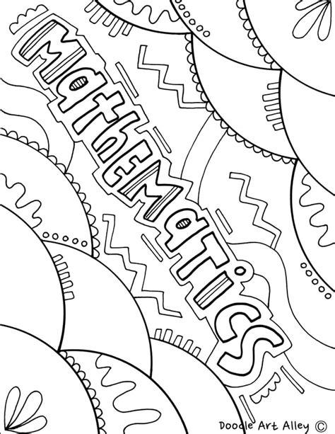 math book coloring page mathematics classroom doodles