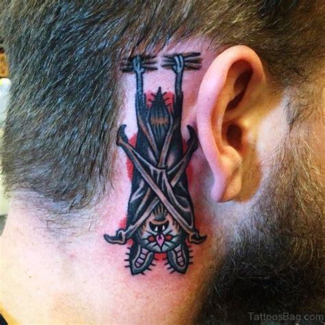 bat tattoo behind ear 27 beautiful bats tattoos behind ear