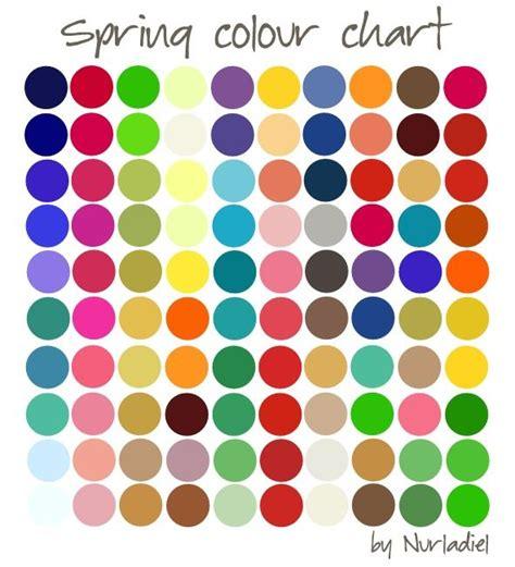 color season color chart season color analysis as the seasons