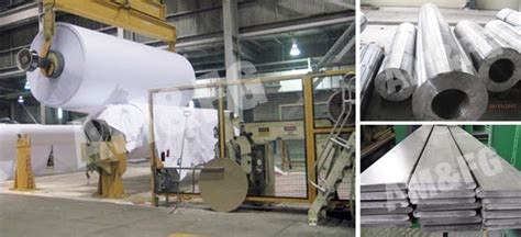 Paper Industry - forged parts for the pulp paper industry all metals