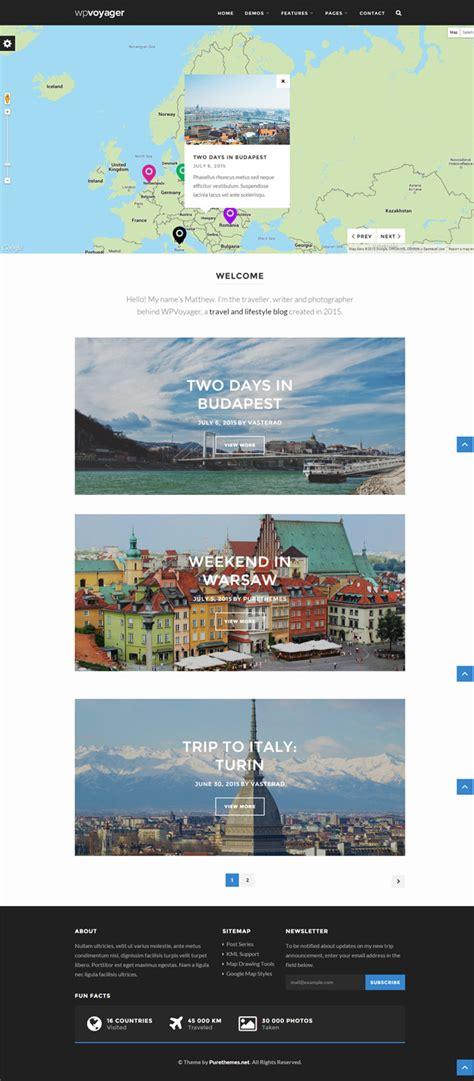 themes travel blogspot 20 best responsive travel blog wordpress themes 2016