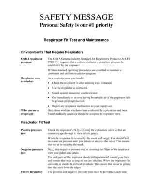 Modern Resume Template Forms Fillable Printable Sles For Pdf Word Pdffiller Respirator Program Template