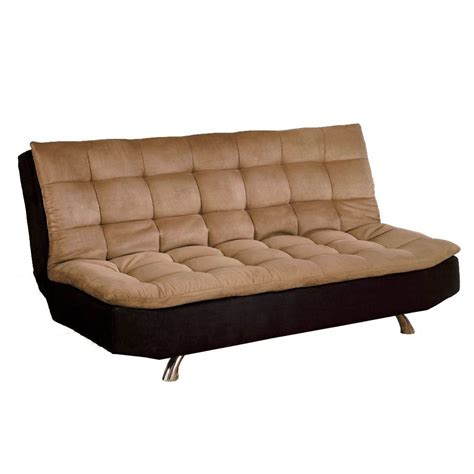 Sofa Beds And Futons Venetian Worldwide Mancora Microfiber Futon Sofa Bed In Espresso Camel Home Furniture