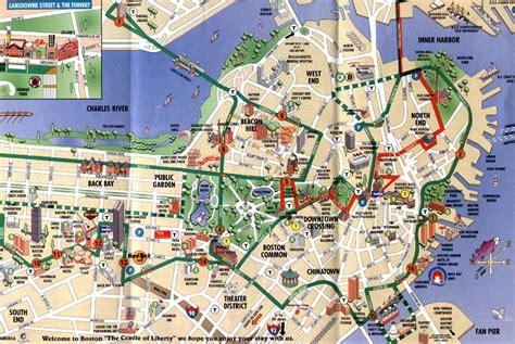 tourist map of boston usa map of boston boston maps mapsof net