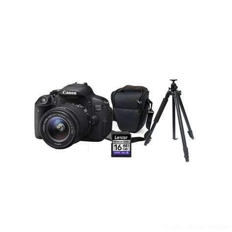 Canon 700d Di Taiwan canon eos 700d kit 18 55 with tripod carry lexar 16gb sd card only 1 699aed