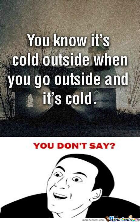 You Know It Meme - cold outside memes image memes at relatably com