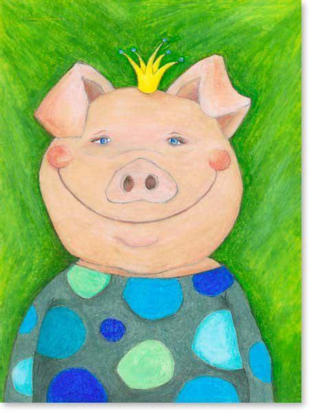 kinderzimmer bild pastell pastellbild oskar gl 252 cksschwein leinwandbild