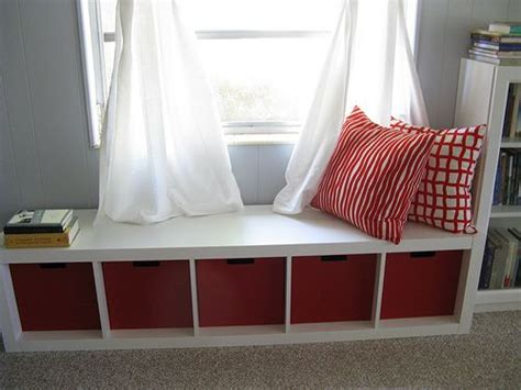 window bench ikea ikea bookshelf turned sideways for a window seat home