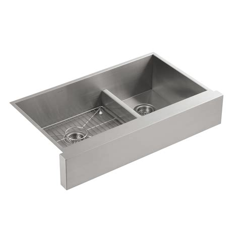 Kohler Stainless Steel Kitchen Sink Kohler K 3945 Na Vault Apron Front Stainless Steel Basin Smart Divide Kitchen Sink