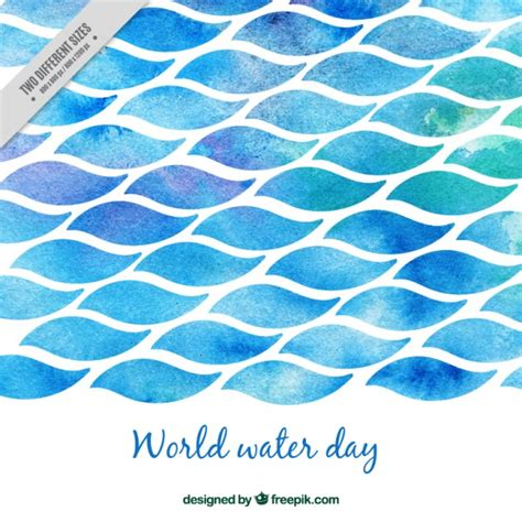 watercolor ocean pattern watercolor world water day sea vector free download