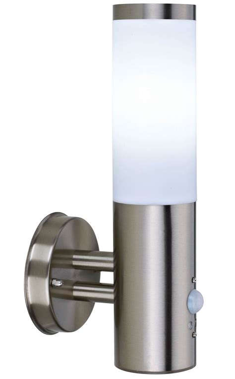 blooma cano stainless steel external pir wall light