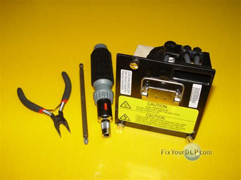 mitsubishi dlp capacitor replacement guide mitsubishi dlp l 915p020010 120w big l how to guide replacement dlp tv l guide