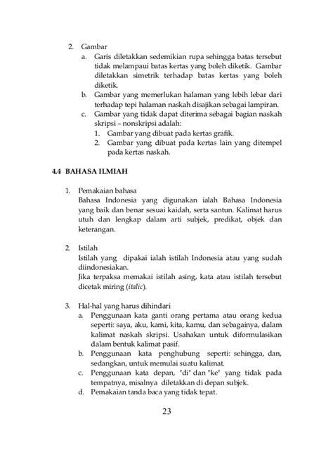 format skripsi yang baik dan benar buku panduan skripsi nonskripsi 2013