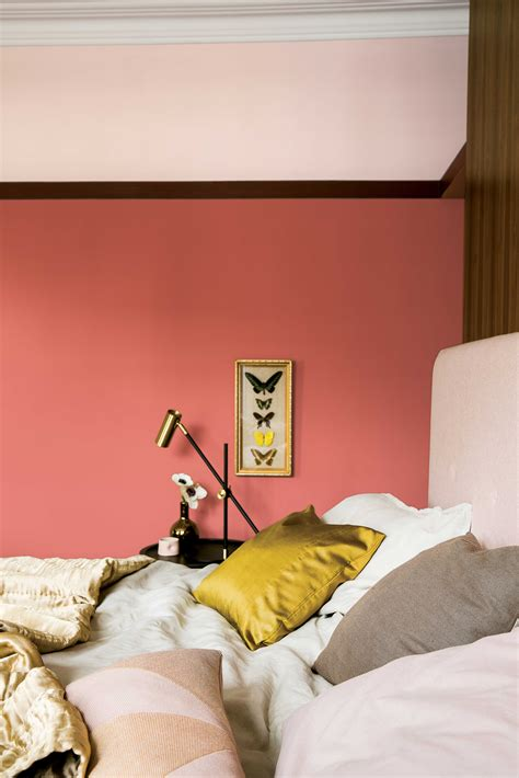 coral walls bedroom brightening up your home with a pop of colour coral walls gold interior and trends