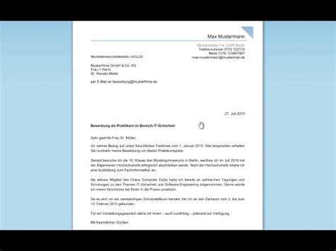 Bewerbungsschreiben Zahnarztassistentin Bewerbung F 252 R Ein Praktikum Schreiben Professionelles
