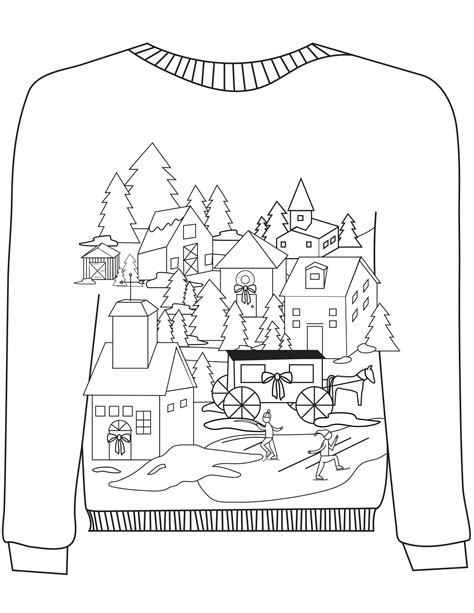 free ugly sweater printables 16 sweater colouring pages in the madhouse