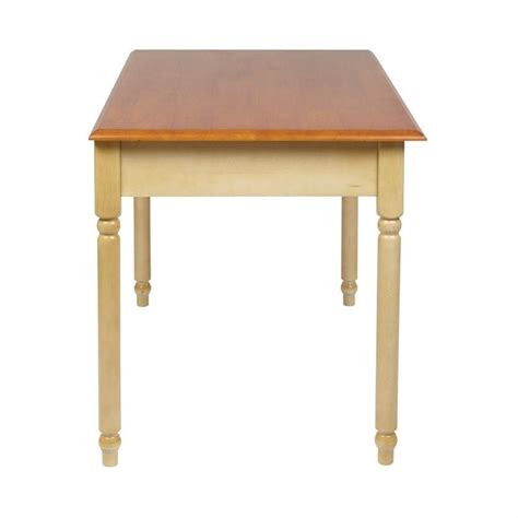 Wood Writing Desk In Antique Yellow Cc25 Yellow Desk L