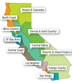 california map with tourist attractions california tourist guide vacations travel and tourism