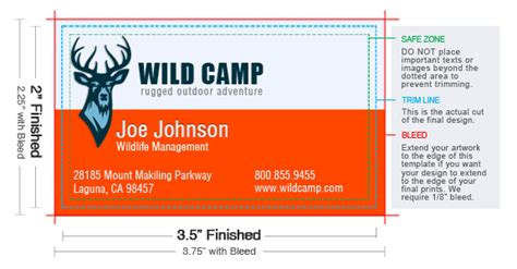 template for business card with bleed standard business card size uprinting com