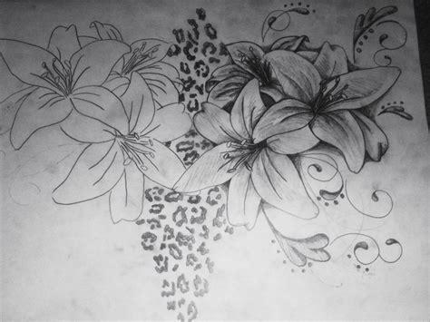 lily swirl tattoo designs lilies swirls leopard print 2 by brittneystar on deviantart
