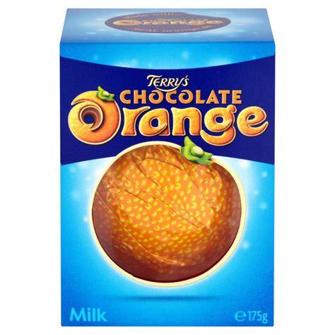 orange chocolate terry s chocolate orange milk 175g individual chocolate