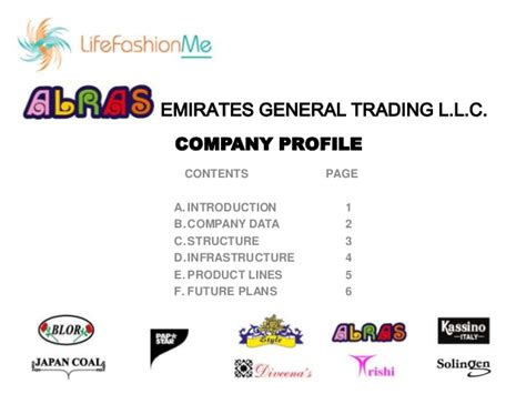 Introduction Letter For Trading Company Profile Alras Emirates General Trading Company Profile