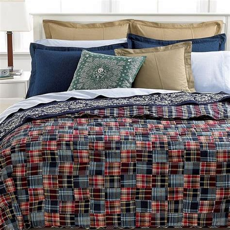 ralph lauren plaid bedding ralph lauren university bedding layne madras plaid full queen quilt new ebay