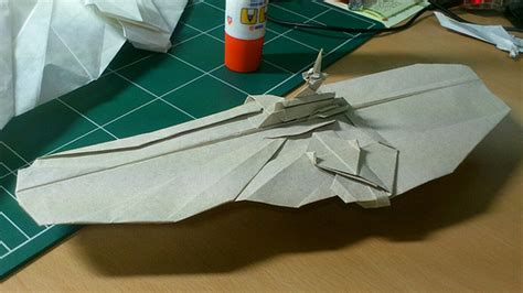 Origami Aircraft Carrier - flickr jakeorigami s photostream