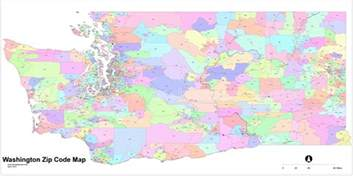 Zipcode Map Zip Code Seattle Washington Map