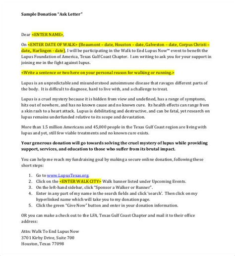 sponsorship letter for charity walk sle letter giving donation check choice image