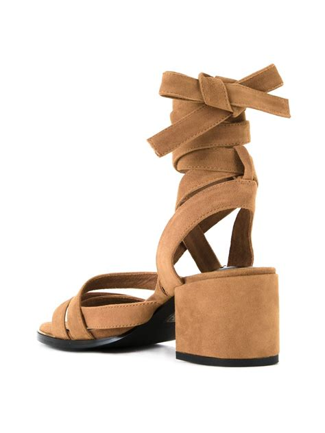 senso sandals lyst senso may mid heel sandals in brown